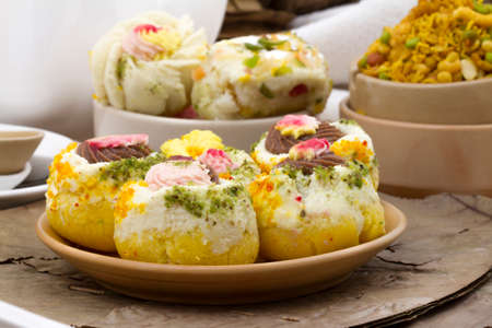 Indian Traditional Bengali Sweet Food Famous in kolkata State on india Stock Photo
