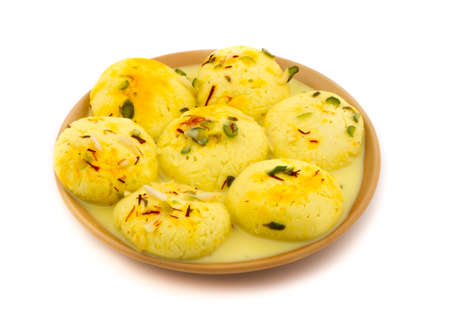 Indian special traditional sweet food Ras Malai
