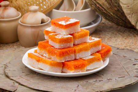 Indian special traditional sweet food kopra pak Stock Photo