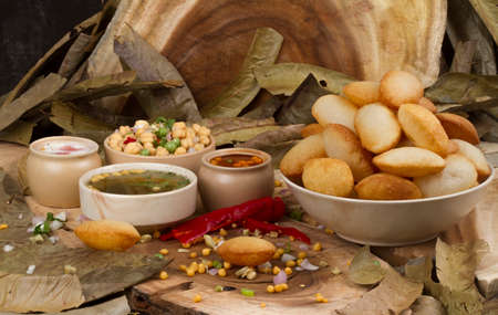 Spicy Gol Gappa indian street food Stock Photo