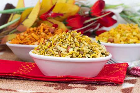 Indian special traditional salty food Navratan Namkeen Stock Photo