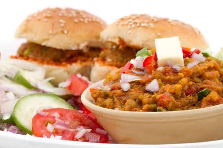 Indian Traditional Street Food Pav Bhaji Stock Photo
