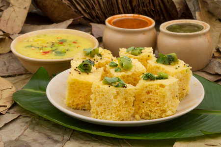 ramzan: Khaman Dhokala is a food common in the Gujarat state of India made from soaked and freshly ground channa dal or channa flour