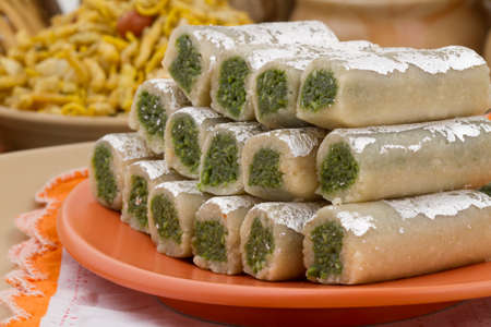 Indian special traditional sweets food Kajurol Stock Photo