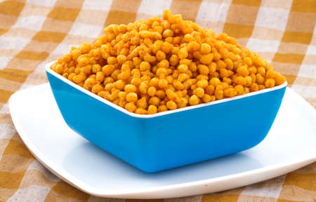 Indian churchy food bundi pakori Stock Photo