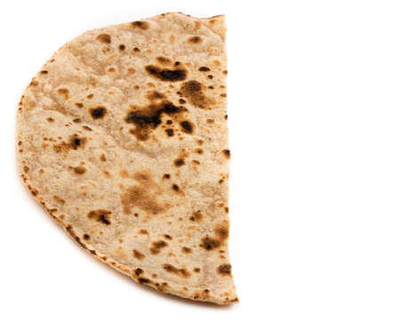 Indian healthy food chapati isolated on white 写真素材