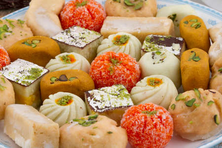 Indian special traditional mix sweet food