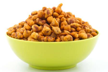 Indian tasty delicious Masala Peanuts food.