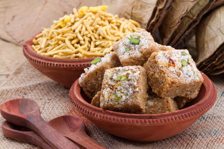 Gond pak is one of the dessert recipes that is usually served as a sweet. It is mainly made in wintery days in Gujarati houses Stock Photo