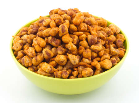 Indian famous and delicious food Masala Peanuts