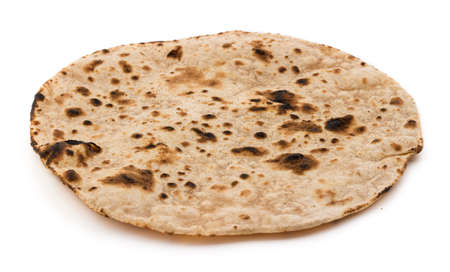 Indian healthy food chapati isolated on white Stock Photo