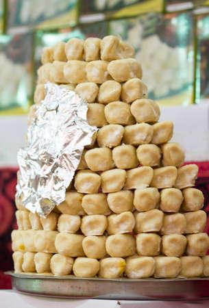 Indian delicious sweet Gunja peda