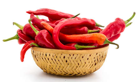 Fresh Red chili on isolated background.