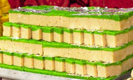 Indian delicious sweet food Mava barfi