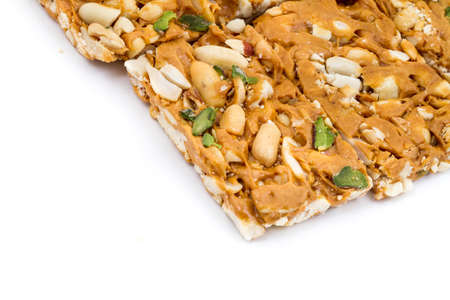 Indian sweet peanut chikki Stock Photo
