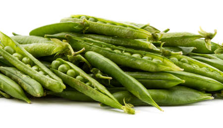 Green peas on isolated background Stock Photo