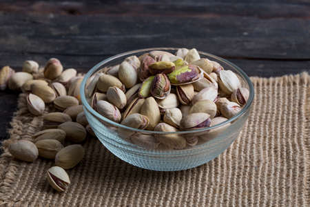 article icon: Green Roasted salted fresh pistachios Stock Photo