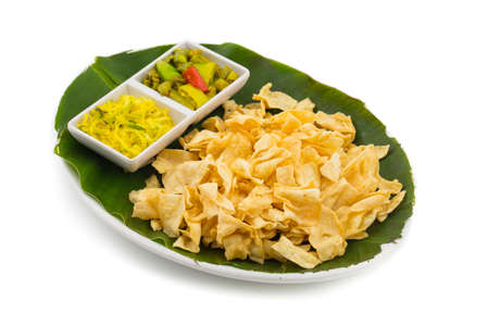 indian traditional street food Besan Papri of fafra Stock Photo