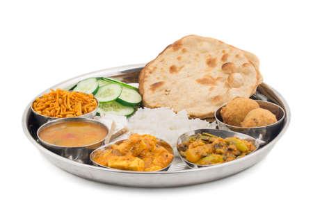 인도 음식 또는 인도 Thali, 남쪽 인도 thali의 남쪽 인도 compleat 식사, 남쪽 인도 완전한 점심의 그룹