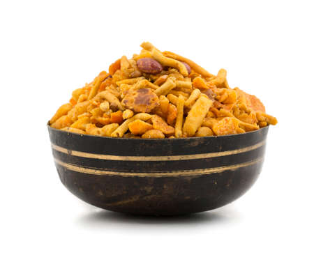 Indian Crunchy and Salty Food Rajasthani Mixure, Famous Food of Rajasthan State of India Stock Photo