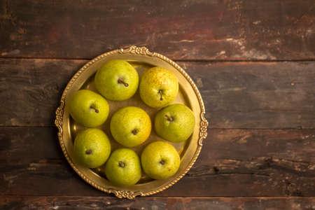 guayaba: tropical green guava fruit Foto de archivo