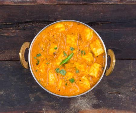 Spécialités alimentaires indiennes. Plat de cuisine indienne - Kadai Shahi Paneer ou Paneer Lababda Banque d'images - 87839177