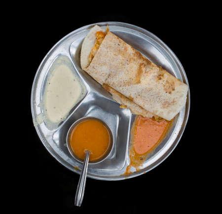 South Indian Food Masala Dosa Stock Photo