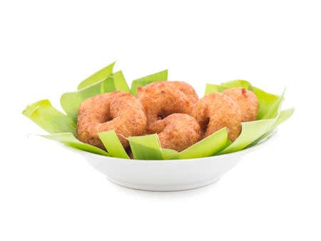 idli, sambar,vada and coconut chutney isolate on white, south indian breakfast Stock Photo