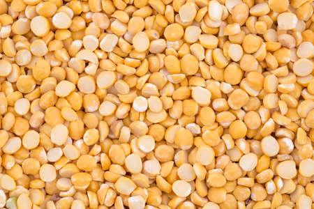 black gram: close up of seeds of husked brown gram pulse Stock Photo
