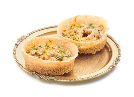 indian traditional sweet food Ghewar