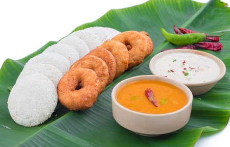 idli, sambar,vada and coconut chutney, south indian breakfast