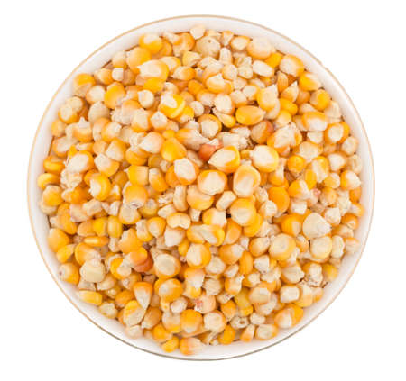 Fresh and Healthy Sweet Corn Seed isolate on white