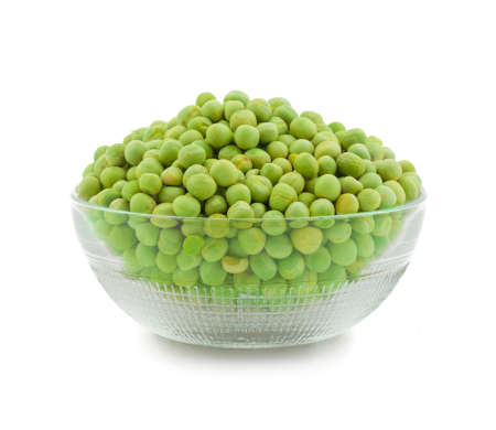 Close Of fresh dry green peas isolate on white
