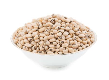 black gram: fresh Black-eyed Beans isolate on white