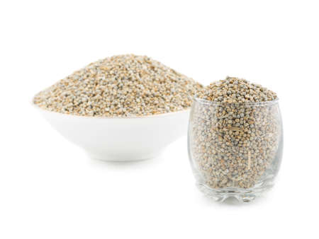 Close up of fresh and healthy Pearl Millet or Bajra Stock Photo
