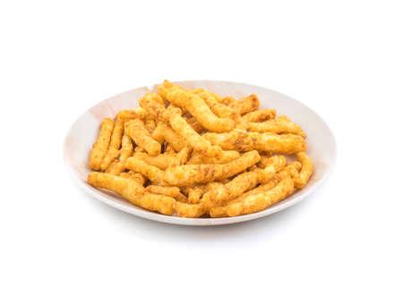Indian Traditional salted food Masala Kurkura isolate on white