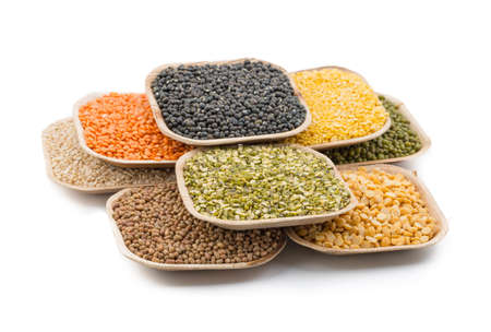 black gram: Variation of lentils, beans, peas, grain ,soybeans, legumes isolate on white