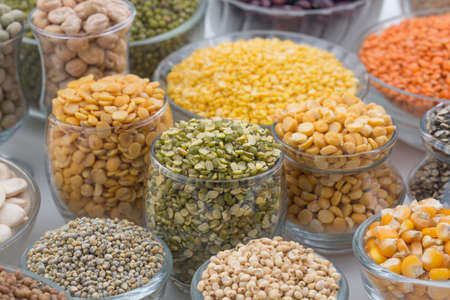 mung: Variation of lentils, beans, peas, grain ,soybeans, legumes isolate on white