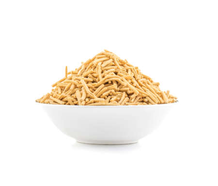 Indian Traditional salted food Ratlami Namkeen isolate on white