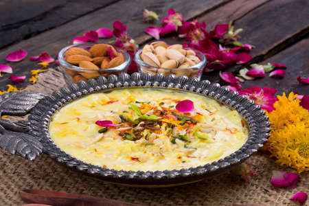 Kesar Rabri Decorated With Various Dry Fruits