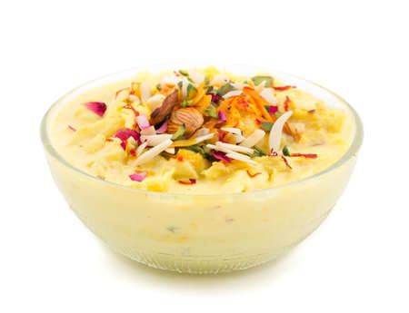 Kesar Rabri Decorated With Various Dry Fruits