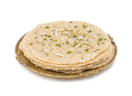 Indian Sweet Food til papri also know as til patti are popular in the Indian makar sankranti festival