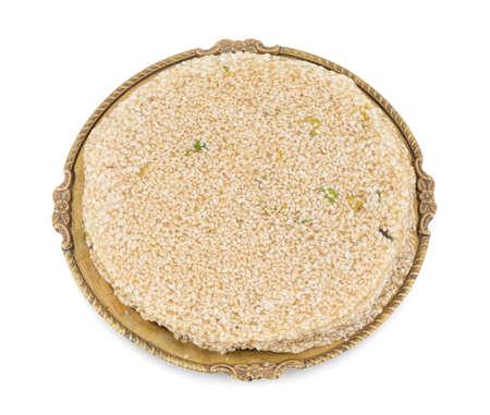 Papri ゴマ インド甘い食べ物も知っているパティ ・ ティルがインド マカー ガンジス祭で人気