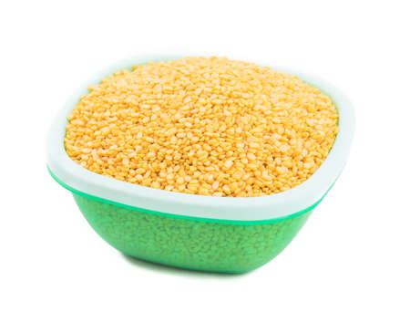 Yellow Peeled Split Mung bean, unpolished with cover