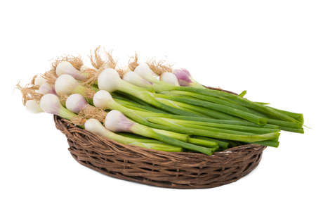 fresh and healthy Raw Green onion Stock Photo