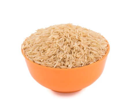 long bean: Healthy and fresh Brown Raw rice Stock Photo