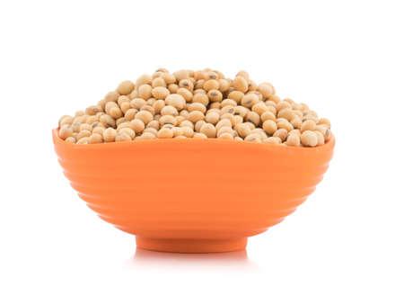 closeup of fresh soya bean