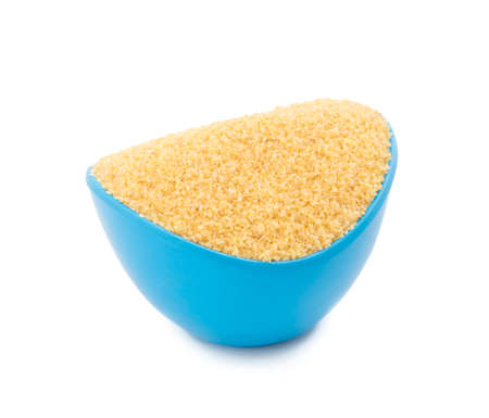 Uncooked cereal food, most often made from groats of durum wheat. Also called burghul