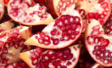 Pomegranate close up