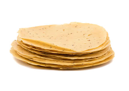 black gram: Indian Traditional started Food for lunch and Dinner Papad or Khichiya, made by black gram split and wheat flour Stock Photo